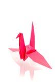 pássaros de papel coloridos com reflexão Fotos de Stock Royalty Free