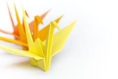 Pássaros de papel de enfileiramento Foto de Stock Royalty Free