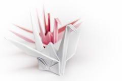 Pássaros de papel de enfileiramento Foto de Stock