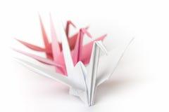 Pássaros de papel de enfileiramento Fotografia de Stock
