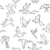 Pássaros de papel do origâmi ilustração stock