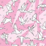 Pássaros de papel do origâmi ilustração royalty free
