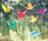 Pássaros de papel do origâmi Fotos de Stock