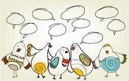 Pássaros desenhados mão ilustração do vetor