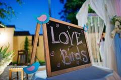 Pássaros do amor do casamento Imagens de Stock Royalty Free