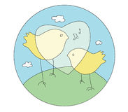 Pássaros do canto Imagens de Stock