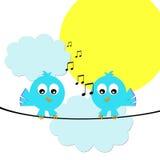 Pássaros do canto ilustração do vetor