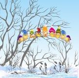 Pássaros do inverno Imagens de Stock