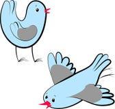 Pássaros do inverno Ilustração Stock