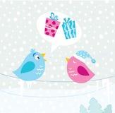 Pássaros do Natal ilustração do vetor