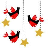 Pássaros do Natal Foto de Stock