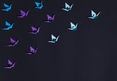 Pássaros do origâmi na composição Foto de Stock
