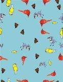 Pássaros e borboletas Fotos de Stock