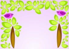 Pássaros em árvores Ilustração do Vetor