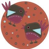 Pássaros engraçados Fotografia de Stock Royalty Free