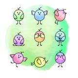 Pássaros engraçados ilustração royalty free