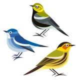 Pássaros estilizados Fotos de Stock