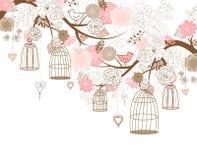 Pássaros fora de suas gaiolas Imagens de Stock