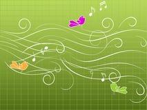 Pássaros musicais Foto de Stock Royalty Free