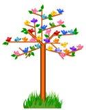 Pássaros na árvore Fotografia de Stock Royalty Free