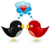 Pássaros no amor Fotografia de Stock Royalty Free