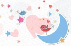 Pássaros no amor Imagens de Stock Royalty Free