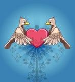 Pássaros no amor Imagem de Stock