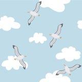 Pássaros no céu Ilustração Royalty Free