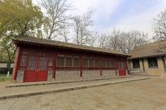 Pátio antigo do templo famoso no inverno, adôbe rgb do jianfusi Foto de Stock Royalty Free