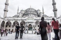 Pátio azul da mesquita Fotografia de Stock