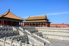 Pátio da Cidade Proibida no Pequim fotografia de stock royalty free