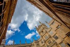 Pátio da construção da universidade de Oxford Imagem de Stock