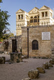 Pátio da igreja da transfiguração, Israel Fotos de Stock