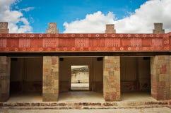 Pátio das colunas Pátio de los Pilares, Teotihuacan Imagens de Stock Royalty Free