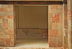 Pátio das colunas Pátio de los Pilares, Teotihuacan Fotos de Stock