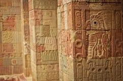 Pátio das colunas Pátio de los Pilares, Teotihuacan Foto de Stock