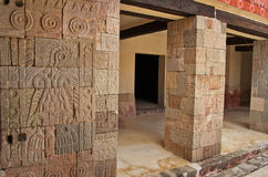 Pátio das colunas Pátio de los Pilares, Teotihuacan Imagem de Stock
