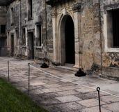 Pátio de Castillo de San Marcos em St Augustine, Florida imagem de stock