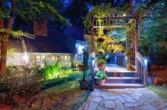 Pátio de entrada coberto da casa Imagem de Stock Royalty Free