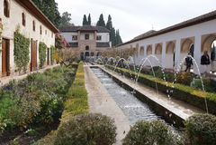 Pátio de la Acequia (corte do canal de água) Imagens de Stock