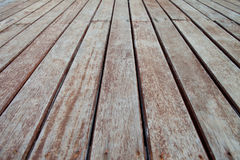 Pátio de madeira Imagem de Stock Royalty Free