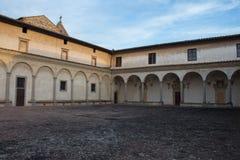 Pátio dianteiro da igreja de Florence Charterhouse Di Firenze de Certosa di Galluzzo Italy Imagem de Stock Royalty Free