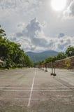 Pátio do badminton Fotografia de Stock