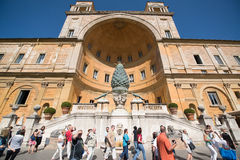 Pátio do Belvedere nos museus do Vaticano Foto de Stock Royalty Free