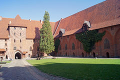 Pátio do castelo de Malbork Foto de Stock