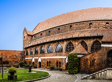 Pátio do castelo de Ordensburg em Olsztyn, Polônia fotos de stock royalty free