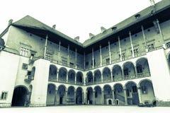 Pátio do castelo de Wawel Fotografia de Stock