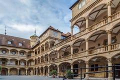 Pátio do castelo velho, Estugarda, Alemanha Imagem de Stock Royalty Free