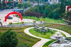 Pátio do hotel de Datong Imagens de Stock Royalty Free