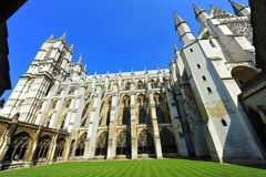 Pátio do interior da abadia de Westminster fotos de stock royalty free